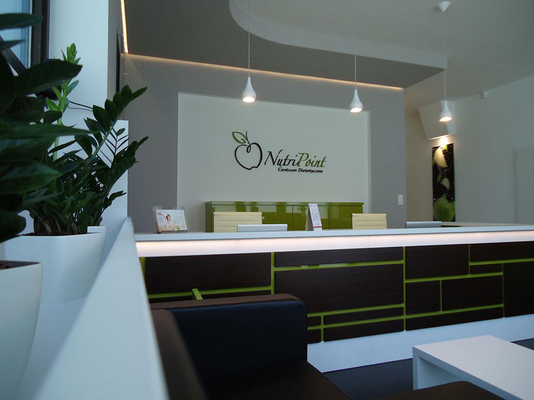Recepcja Centrum Dietetycznego NutriPoint w Rzeszowie