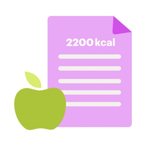 dieta odchudzająca 2200 kcal